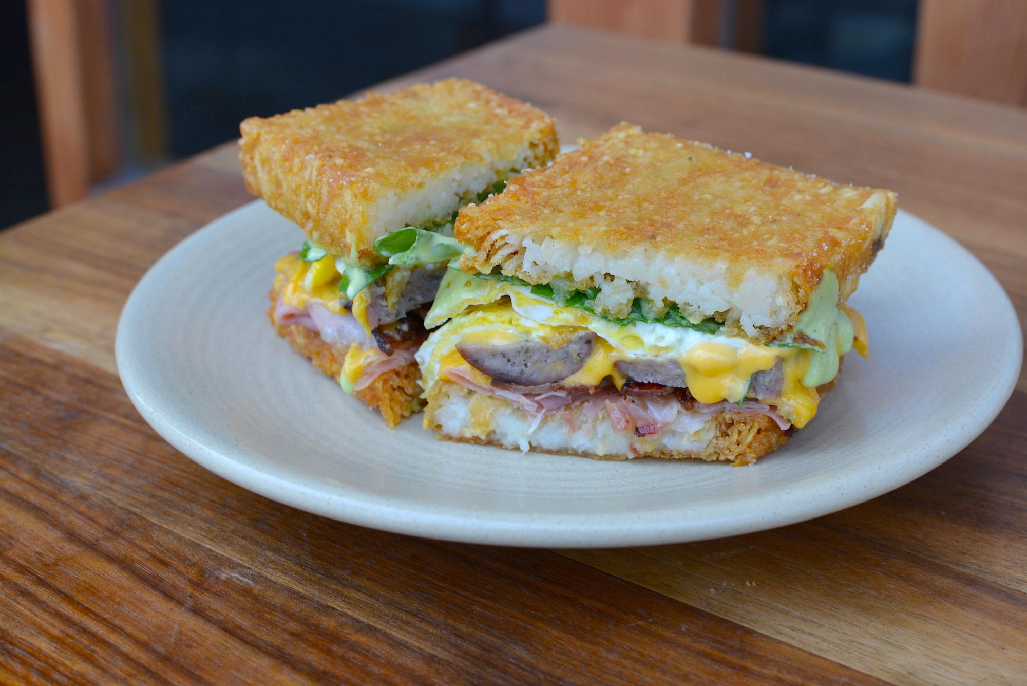 The Cannibal's breakfast sandwich