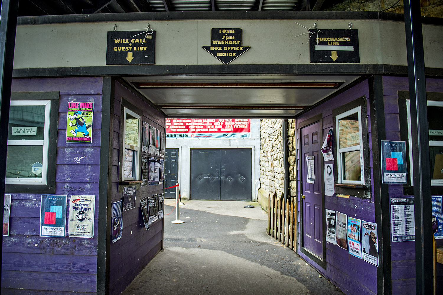 The Masquerade's lovably scruffy ticket booths off North Avenue.
