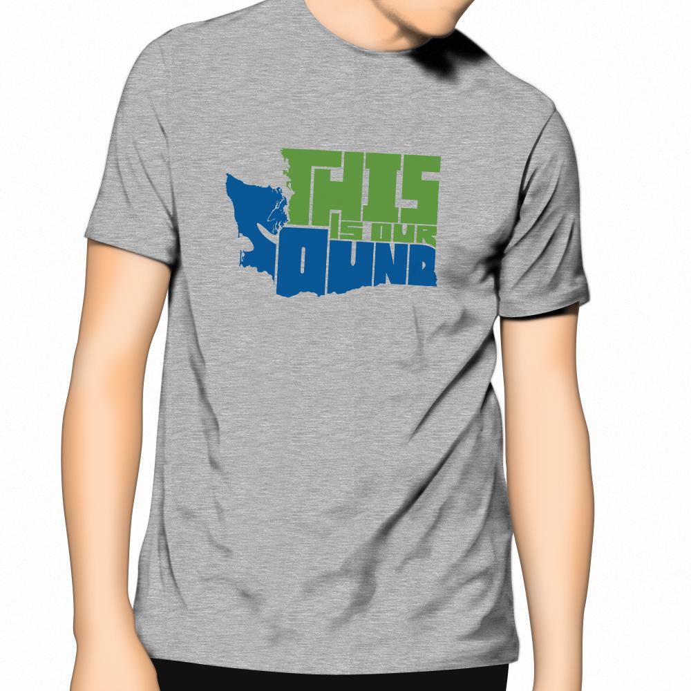 """一件衬衫,指出""""这是我们的声音""""形如华盛顿州。"""
