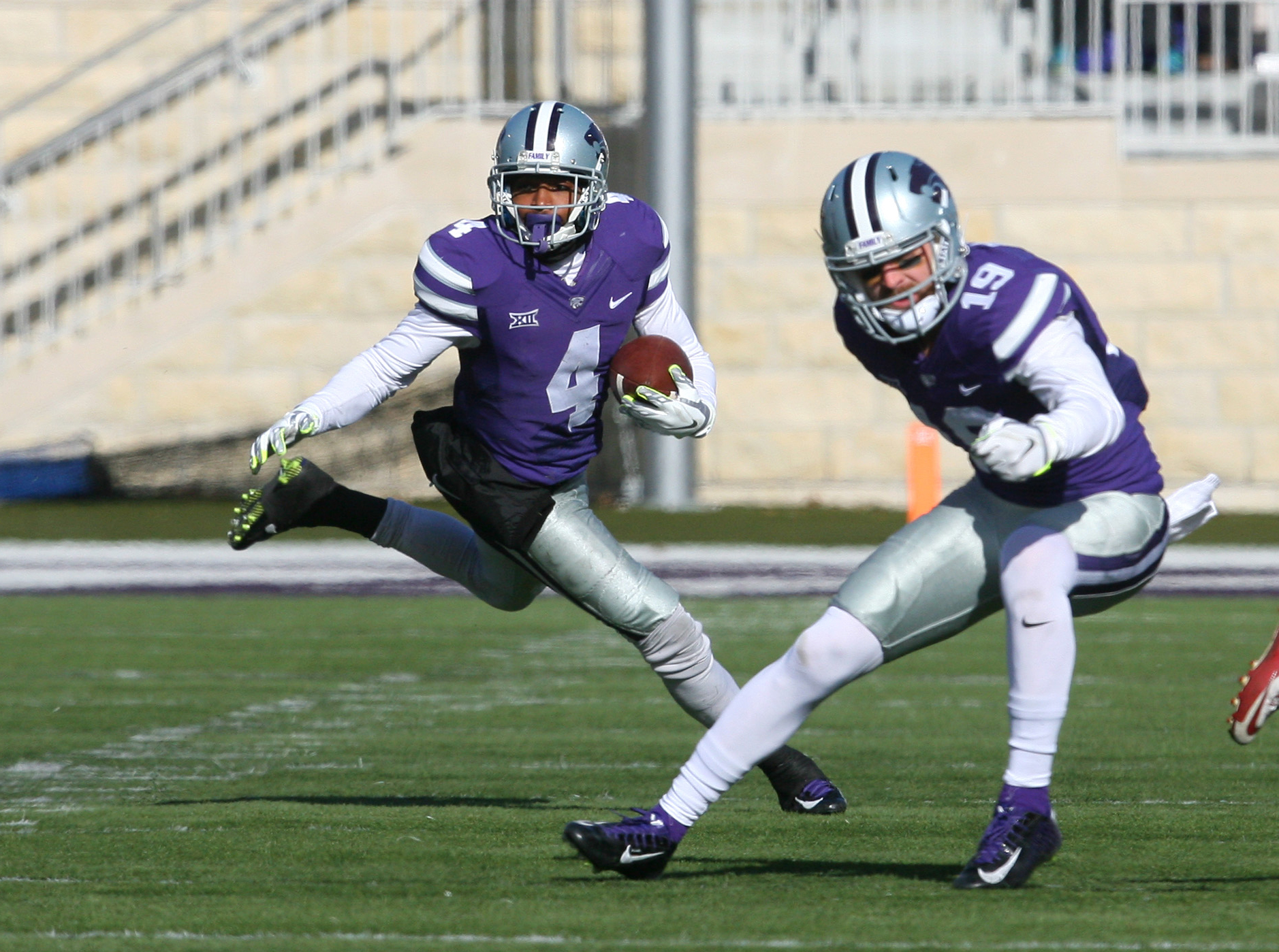 """When he wasn't battling nagging injuries in 2015, Dominique Heath was a spark plug for a K-State team lacking explosive star power. One thing I'm not going to miss, though? """"No. 4 is now wearing No. 87."""""""