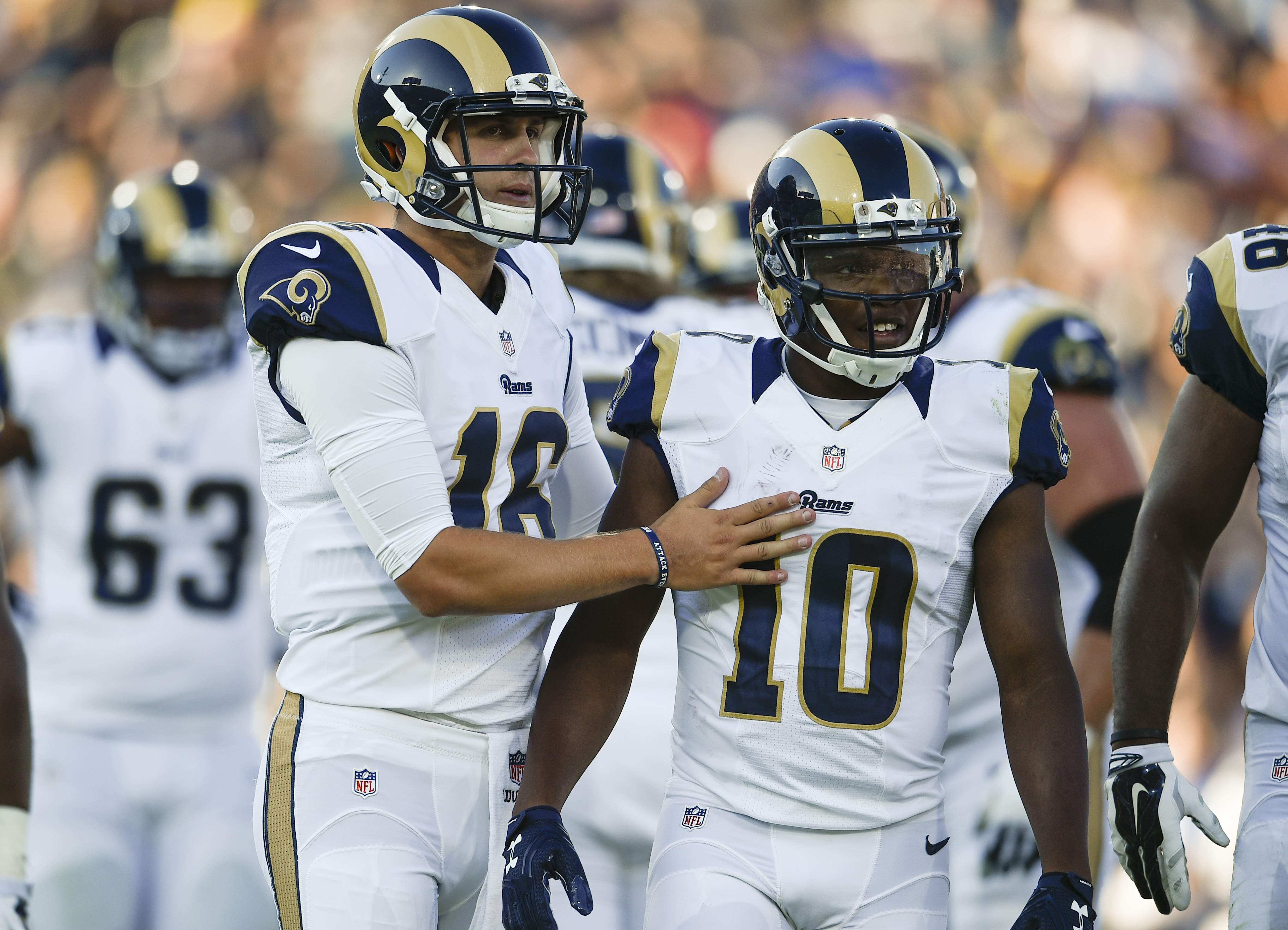 Los Angeles Rams QB Jared Goff and WR Pharoh Cooper
