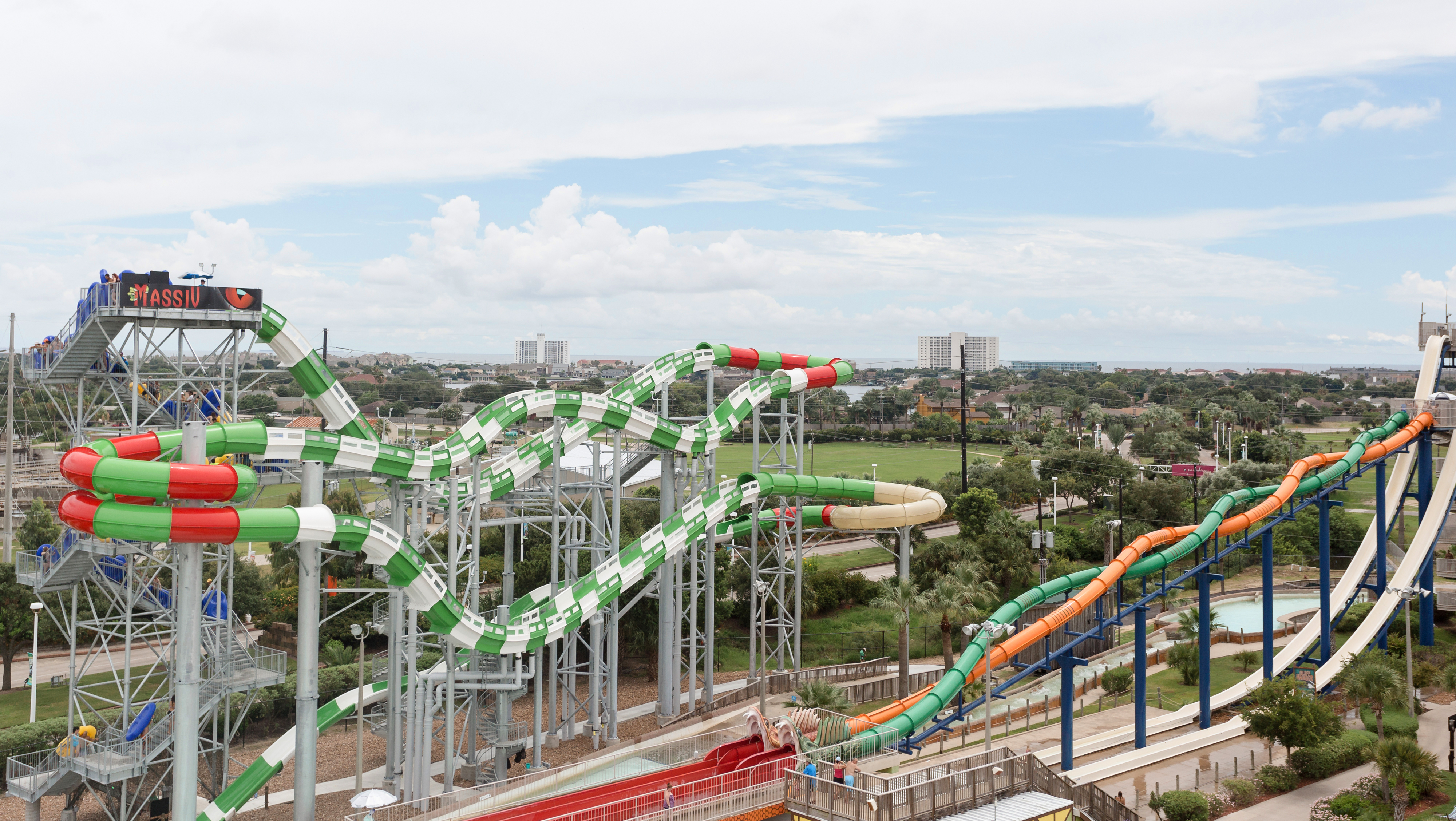 Schlitterbahn Water Park on South Padre Island in Texas.