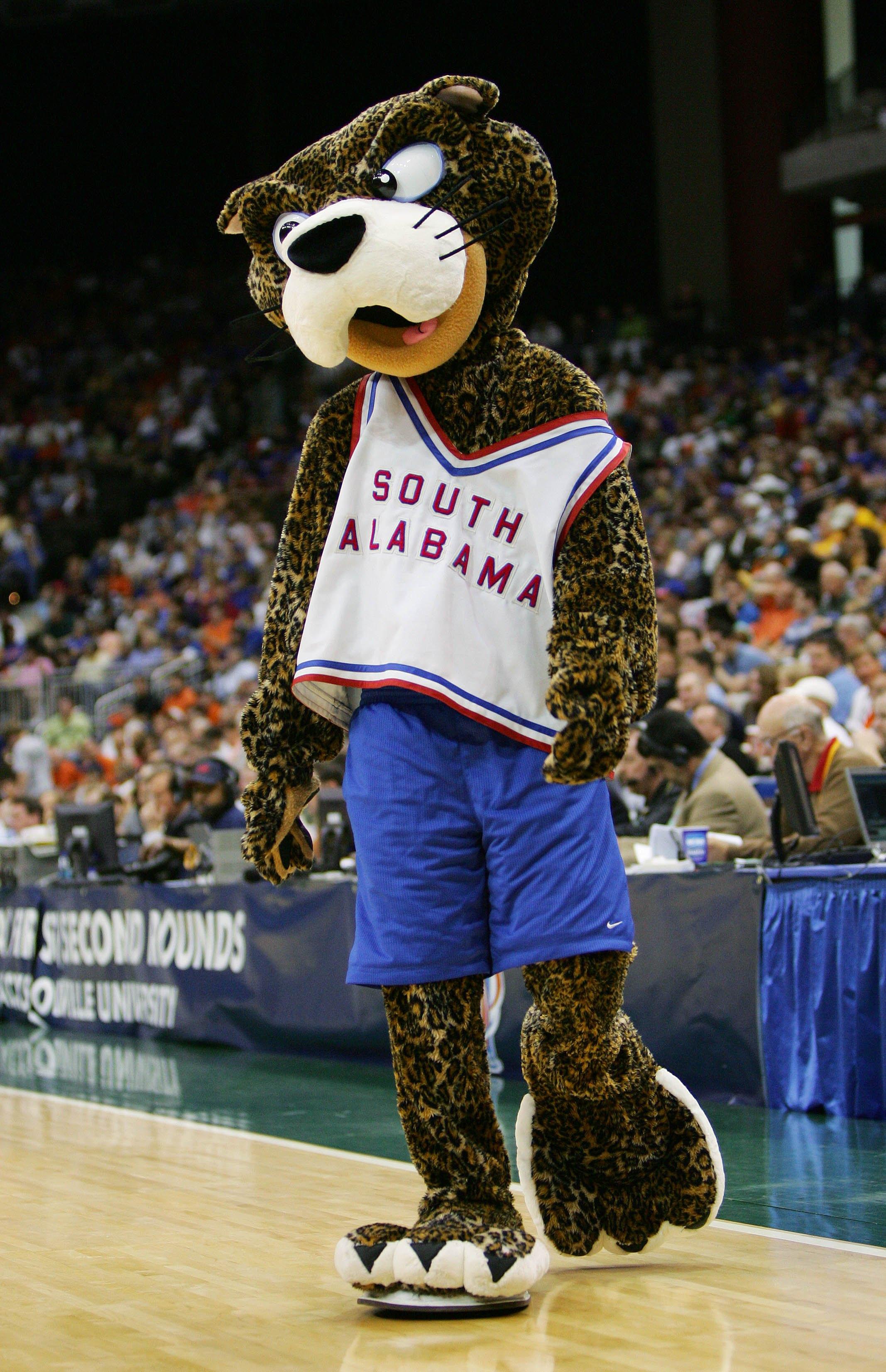 South Alabama's Mascot is strange.
