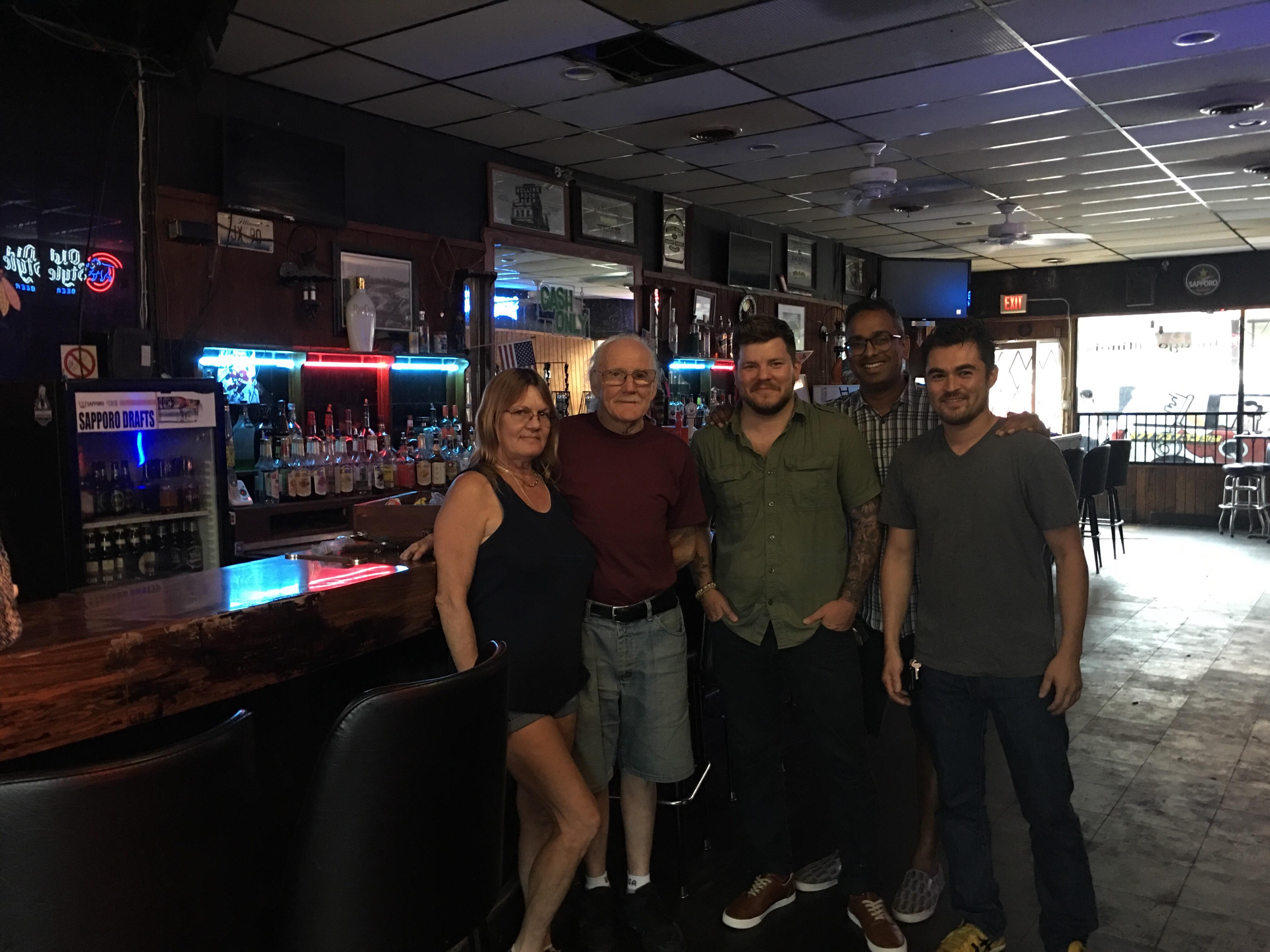 Two Way owner Glenn Miller and his wife, Dustin Drankiewicz, Anshul Mangal, Shin Thompson