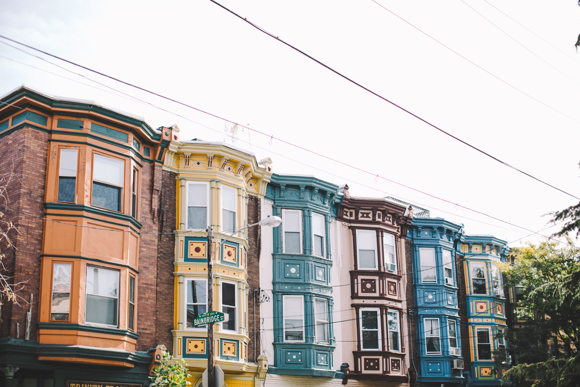 Colorful houses in Philly.