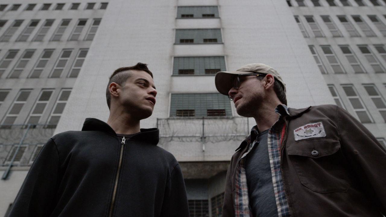 Rami Malik and Christian Slater in USA's 'Mr. Robot'