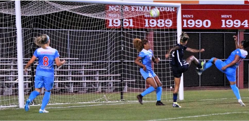 Tasha Kai nearly scores against Chicago