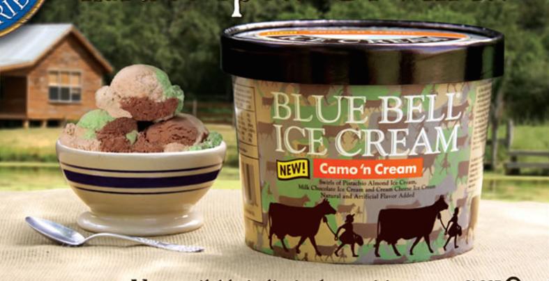 Blue Bell Camo N' Cream