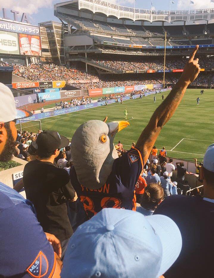 NYCFC Pigeon at Yankee Stadium
