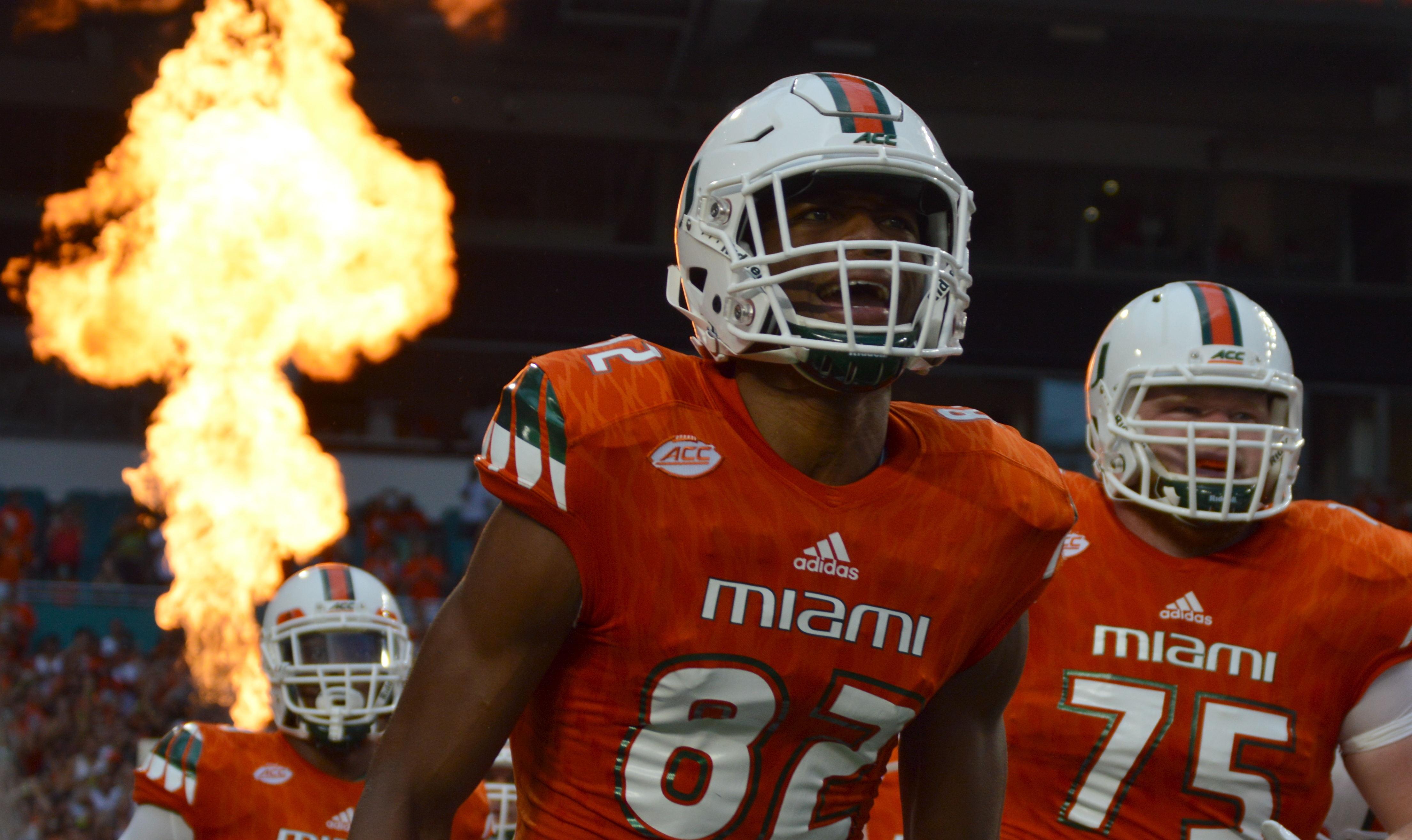 Ahmmon Richards with a huge ass flame ... no caption really needed