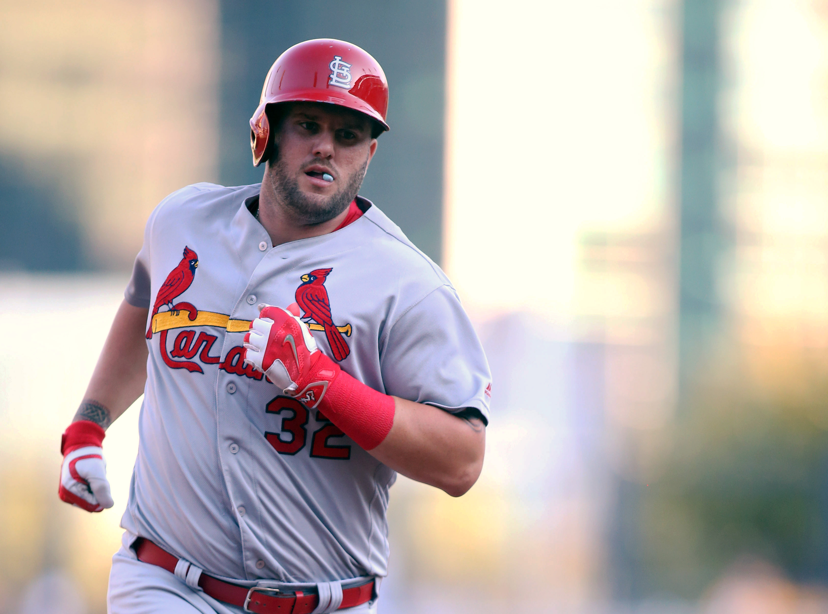 Noted lefty masher Matt Adams rounds the bases
