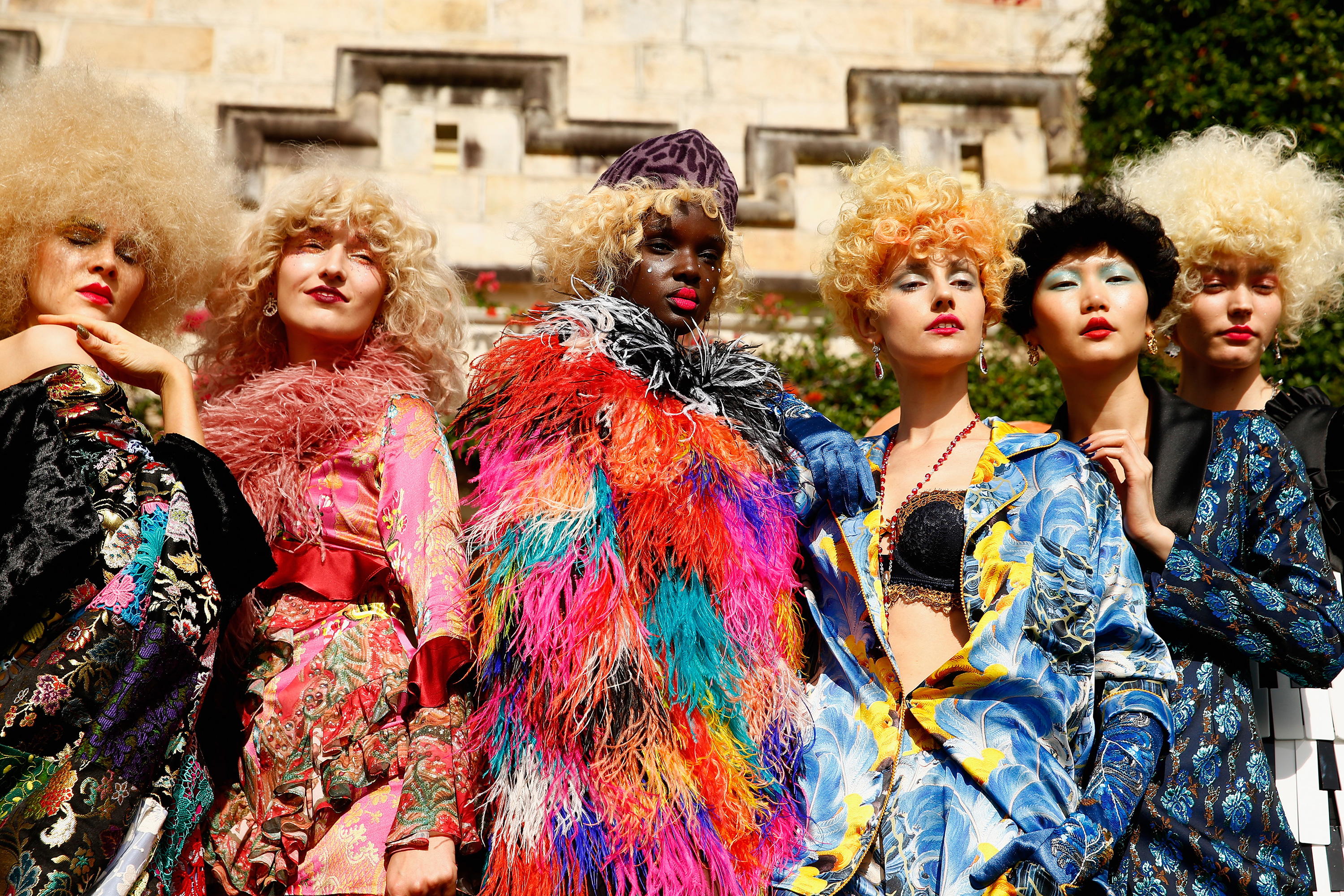 Models at the Romance Was Born presentation at Mercedes-Benz Fashion Week Australia. Photo: Brendon Thorne/Getty Images