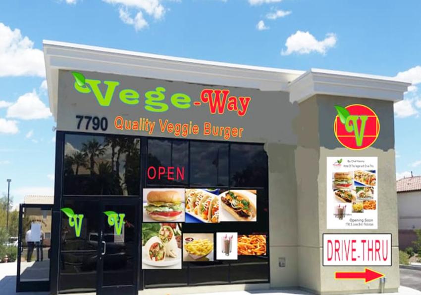 VegeWay Burger Drive-Thru Sets Opening Date