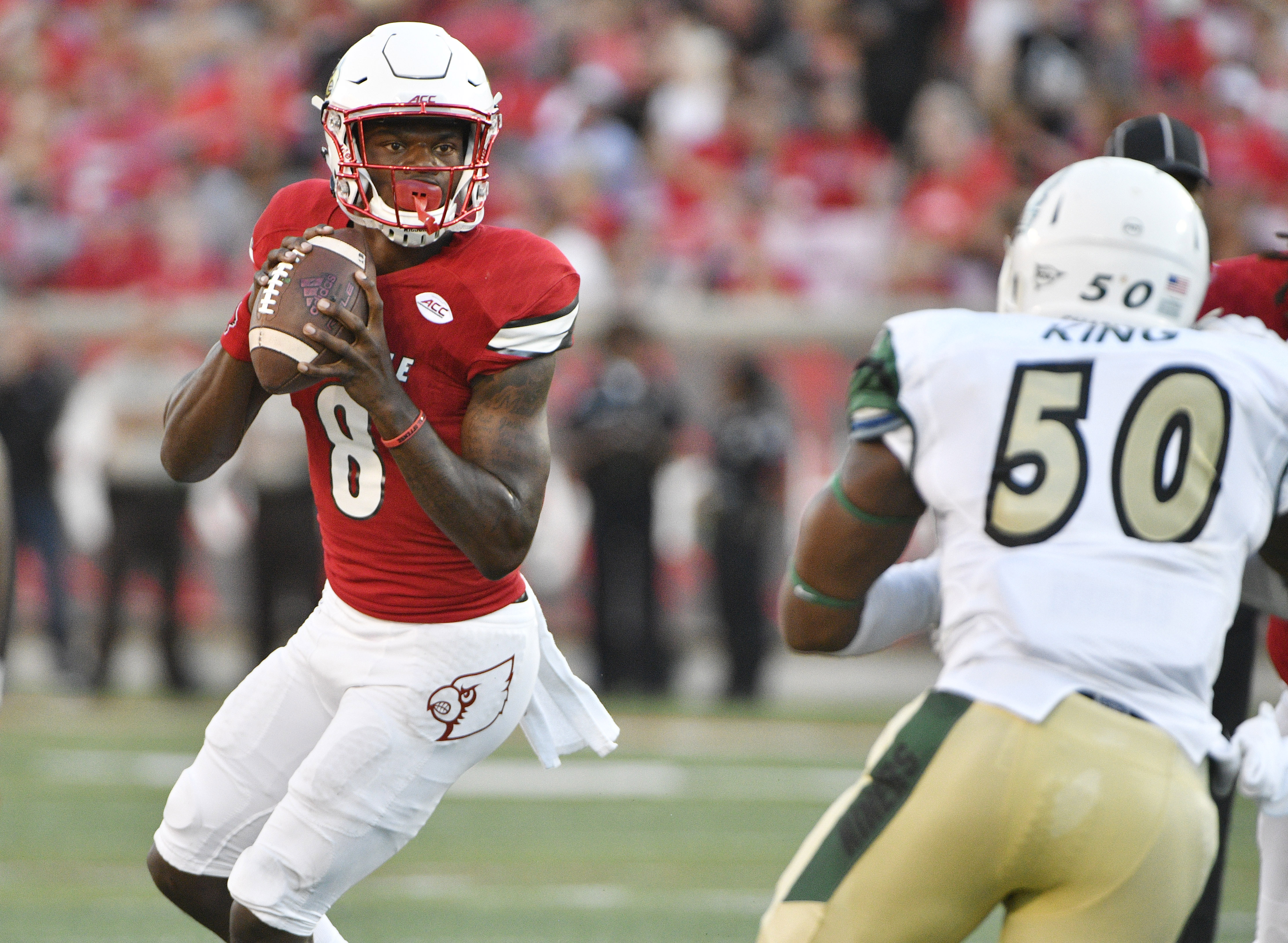Lamar Jackson threw  for six TDs and ran for two more IN ONE HALF last week!