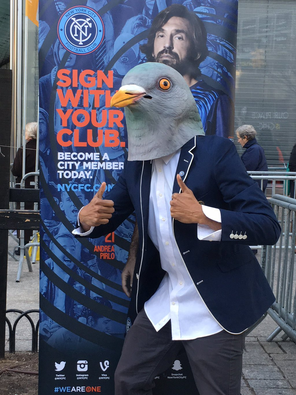 NYCFC Pigeon at the Tribeca Film Festival