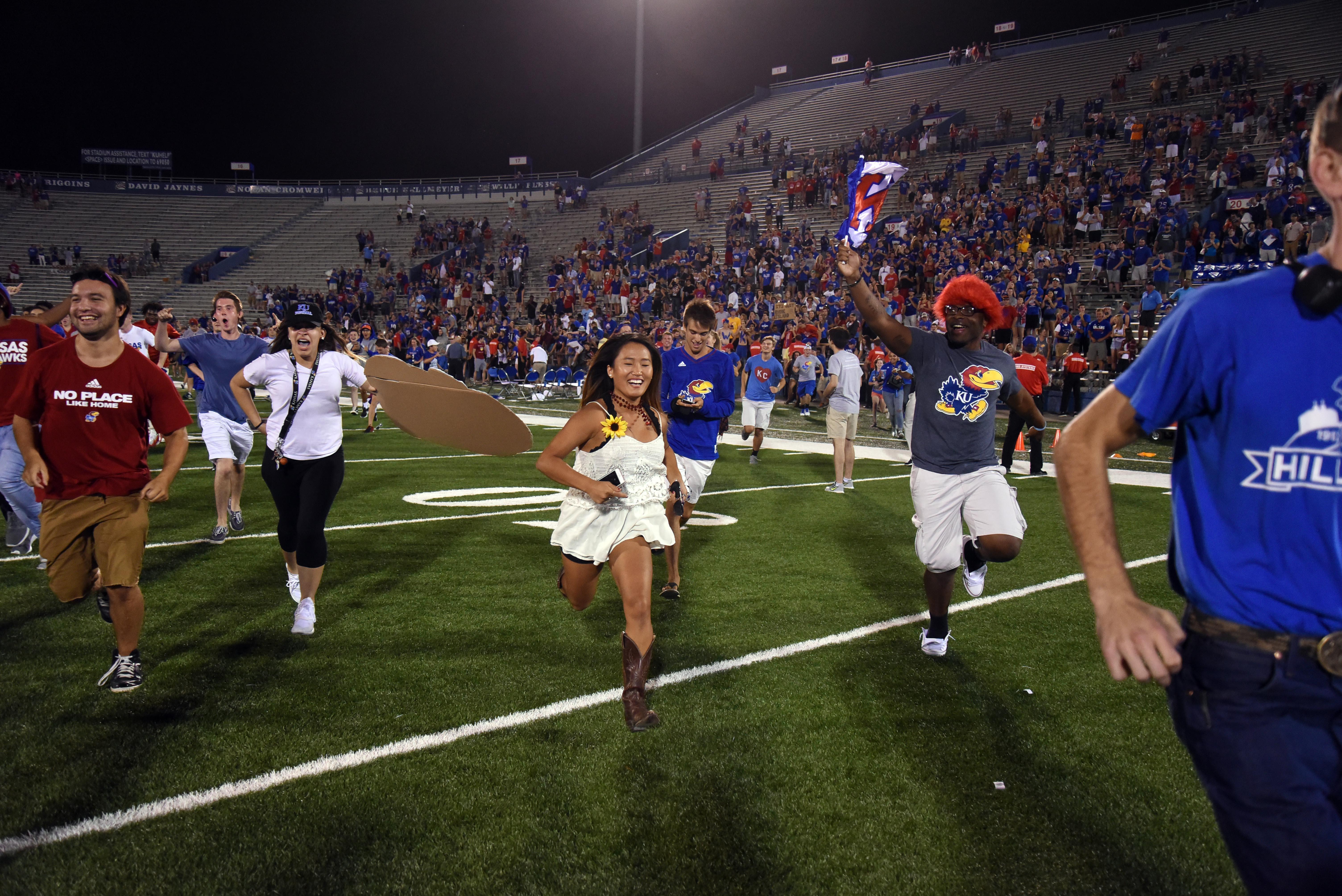 NCAA Football: Rhode Island at Kansas
