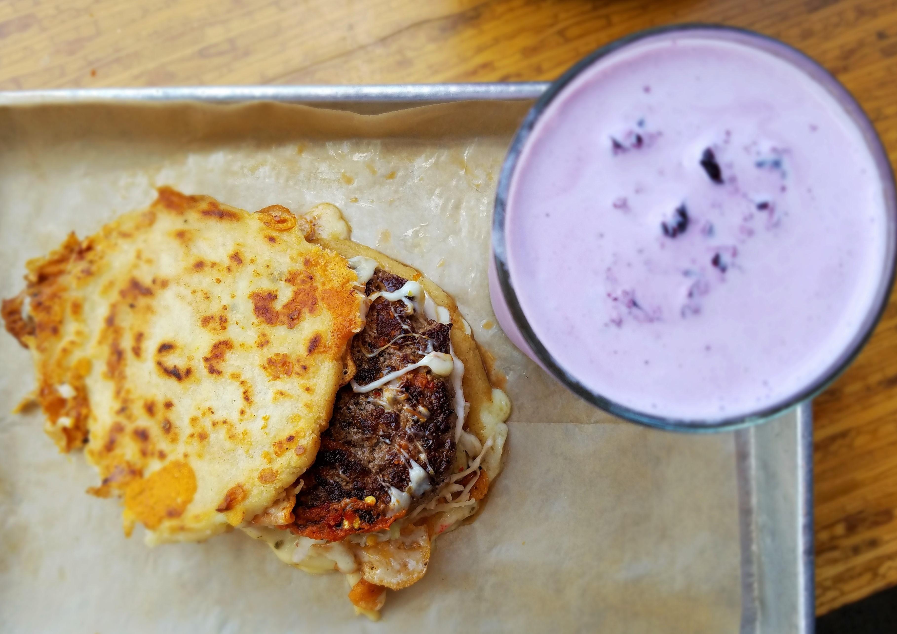 It's a burger... it's a pupusa... it's both, tbh.