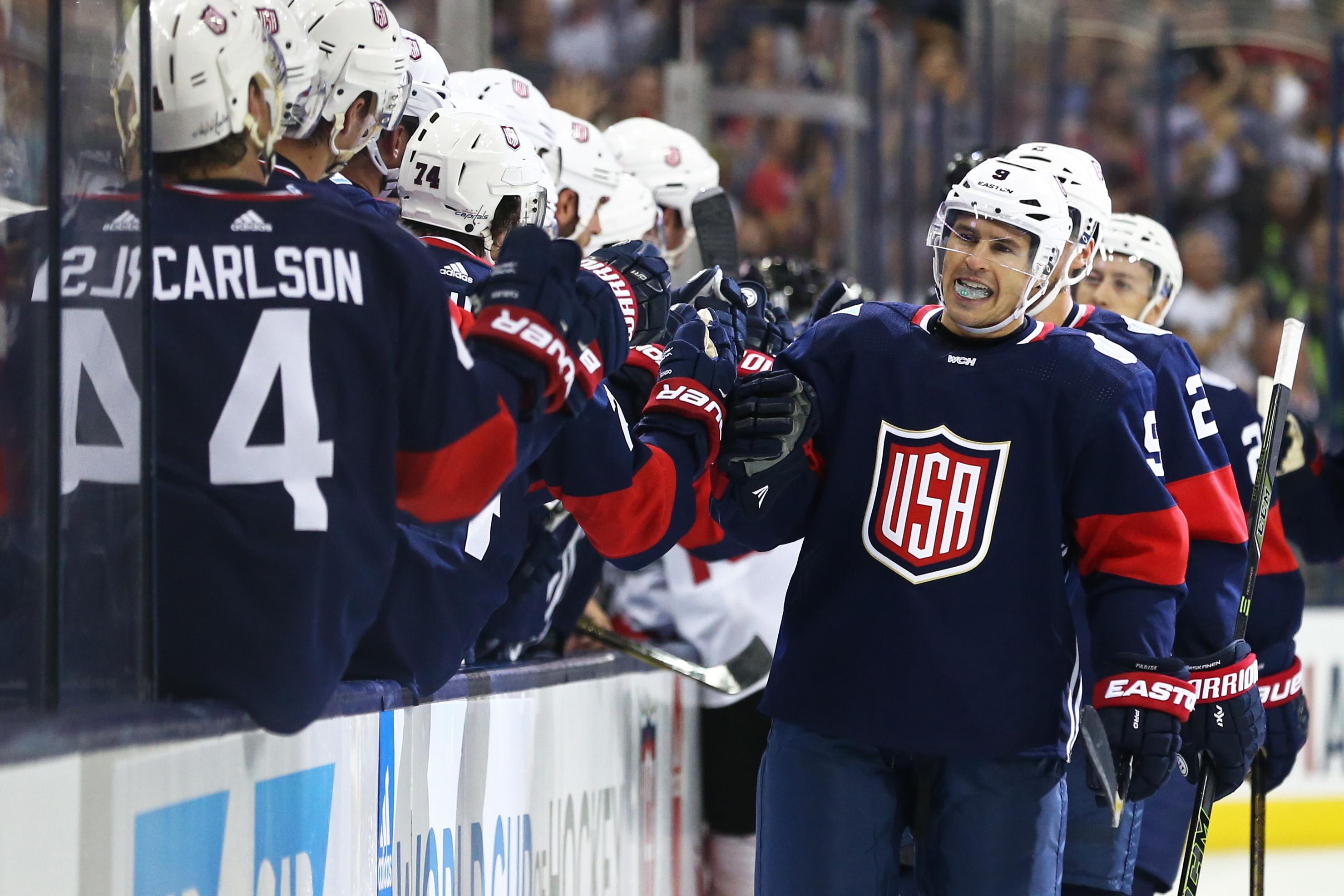 Hockey: World Cup of Hockey-Pre Tournament-Team Canada vs Team USA
