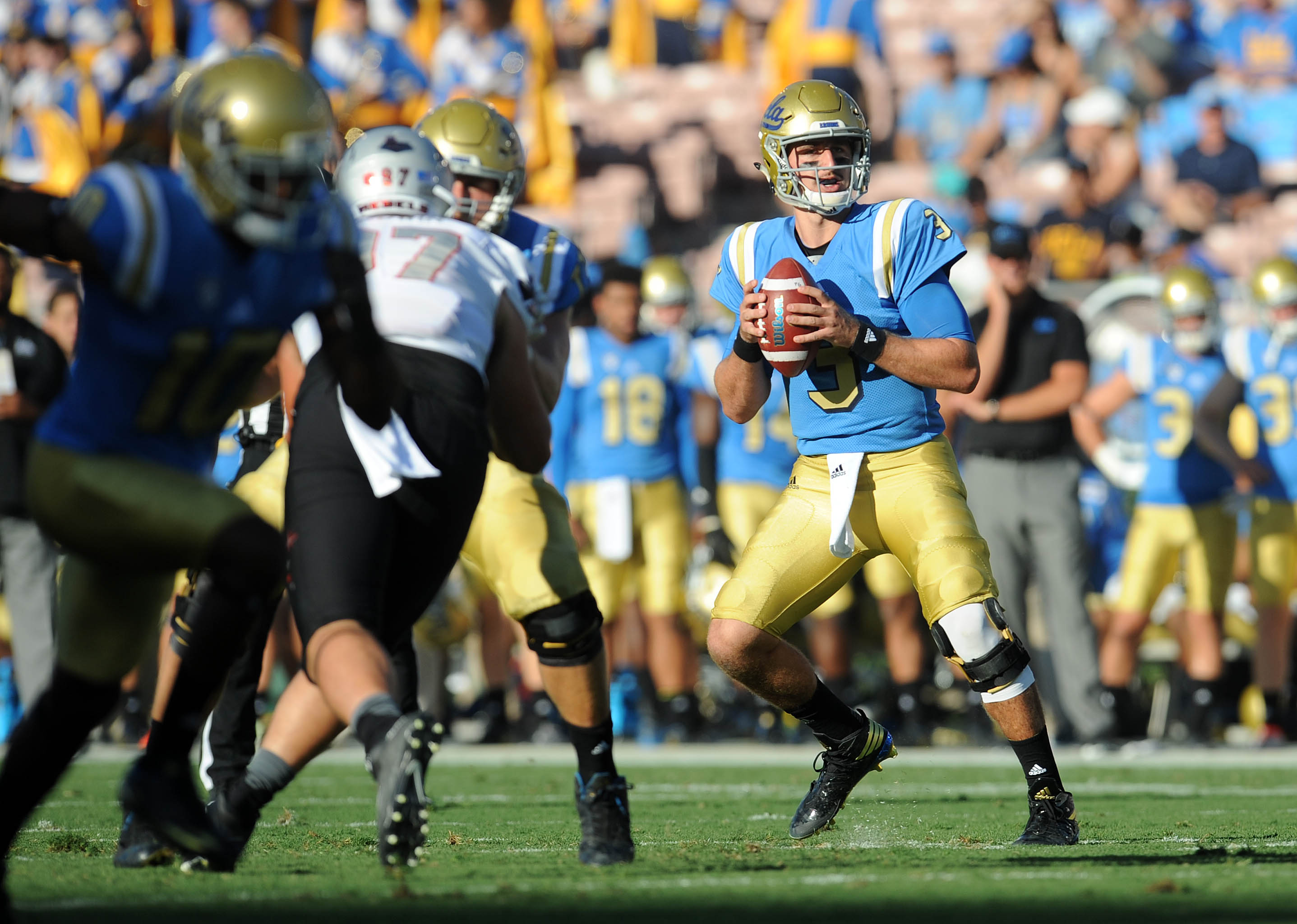 UCLA leads UNLV 28-14 at the half.