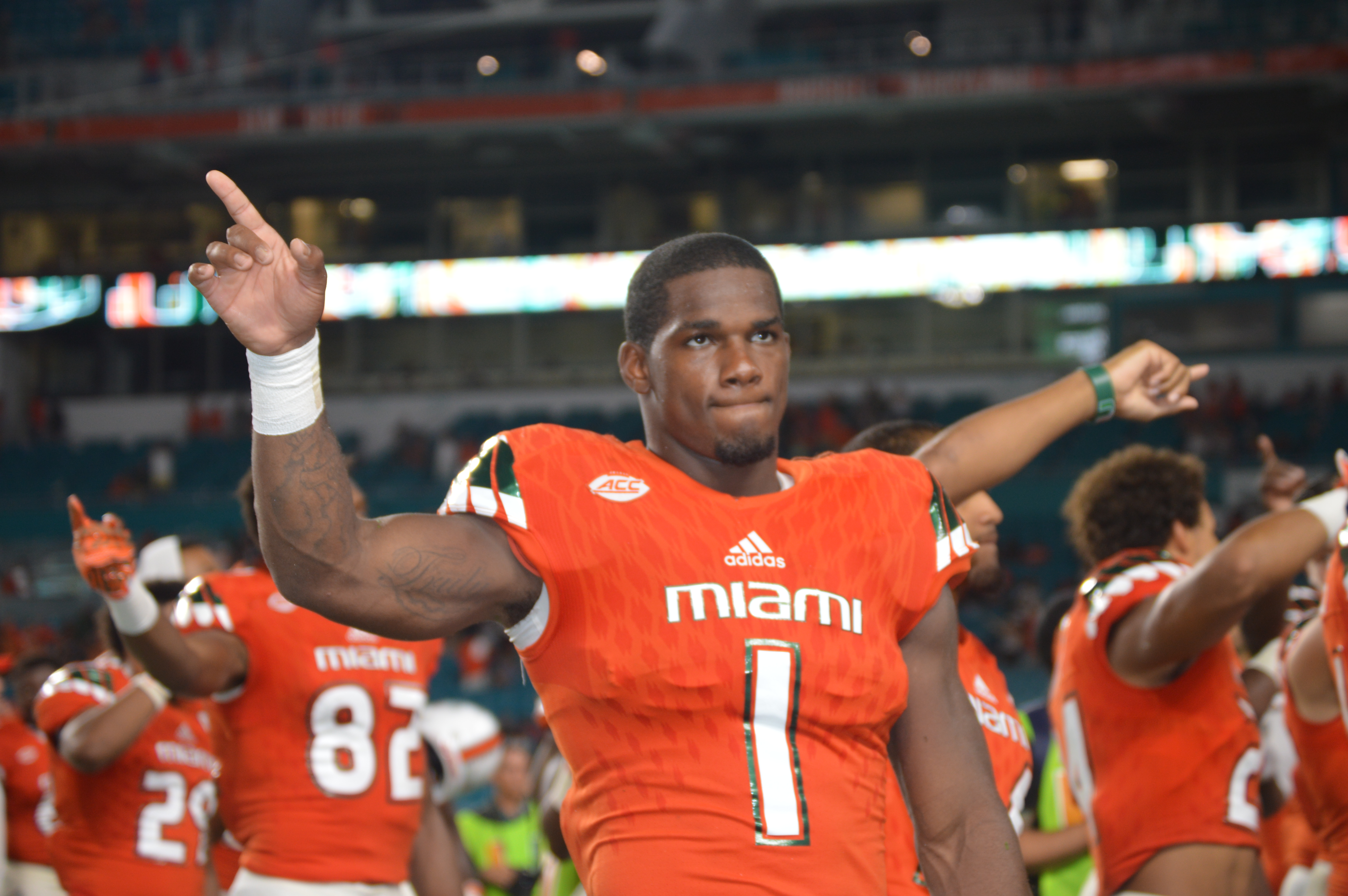 Mark Walton didn't give a hoo.... he umm, he had a realy good game against the Owl's