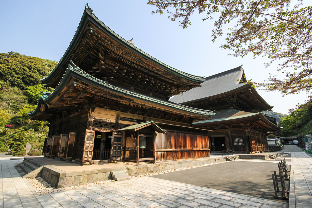 A temple in the Japanese city of Kamakura