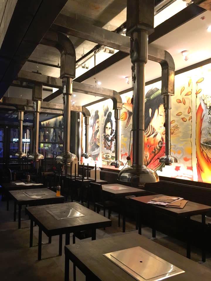 Inside Char Korean Bar & Grill.