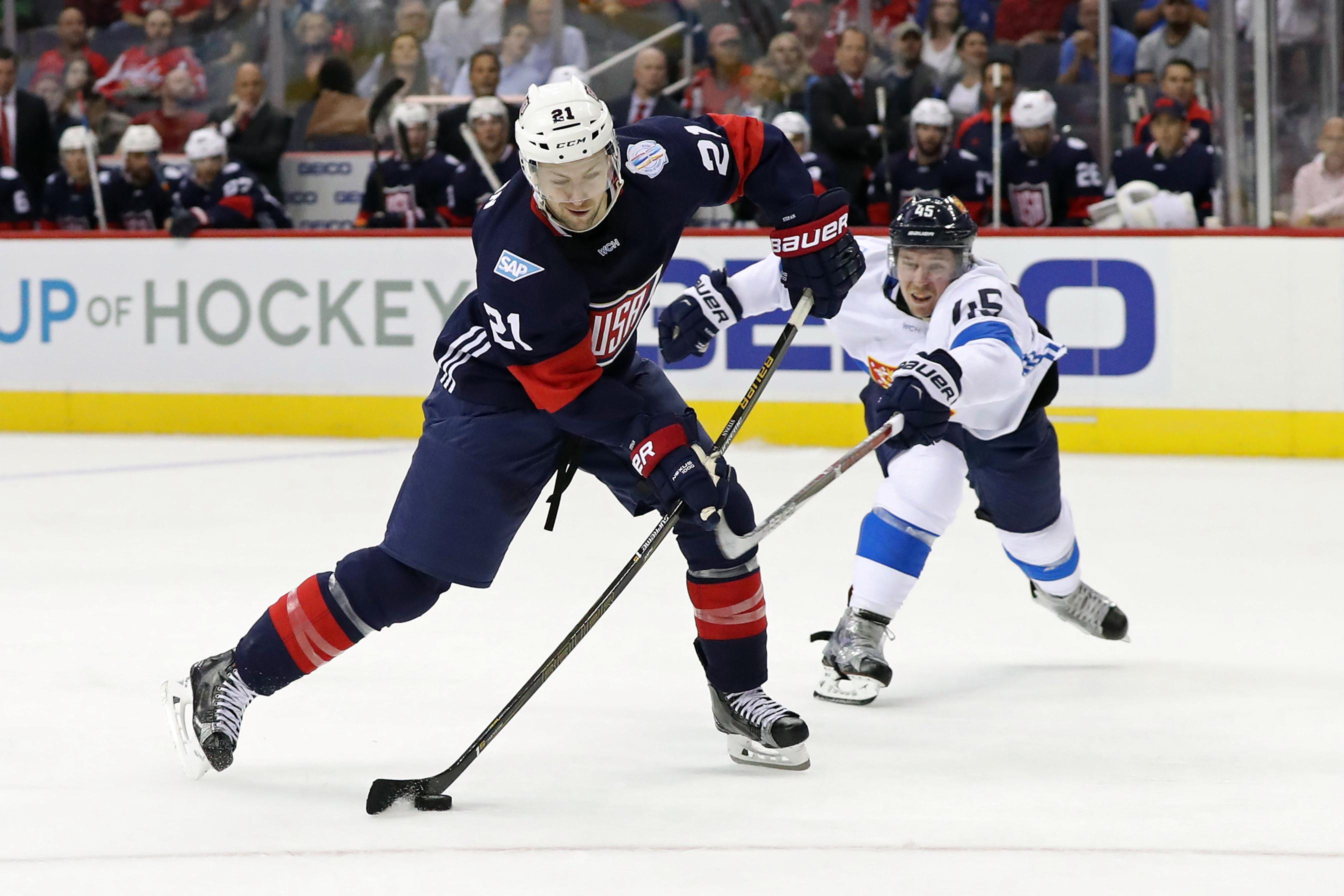 Hockey: World Cup of Hockey-Pre Tournament-Team Finland vs Team USA