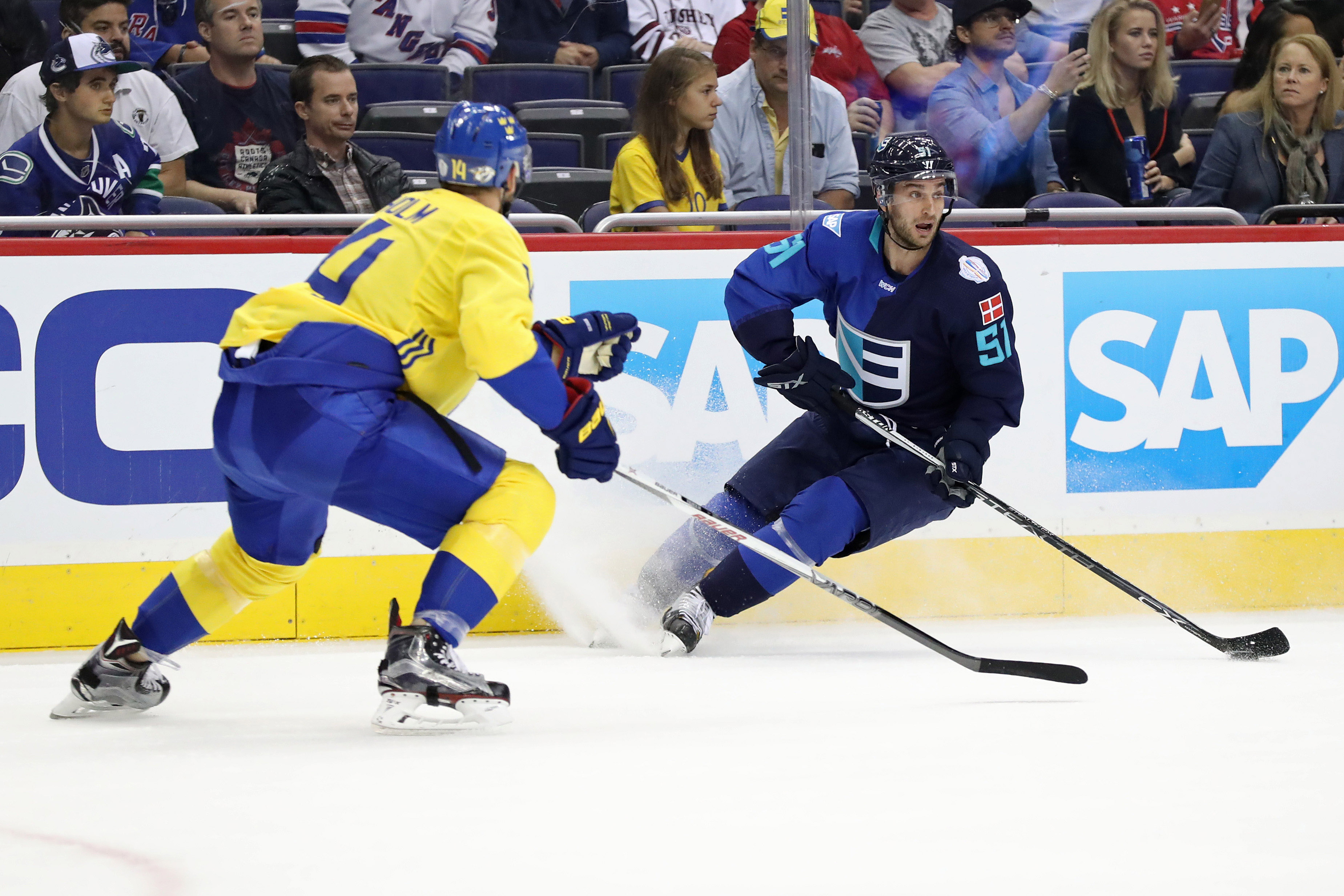 Hockey: World Cup of Hockey-Pre Tournament-Team Sweden vs Team Europe
