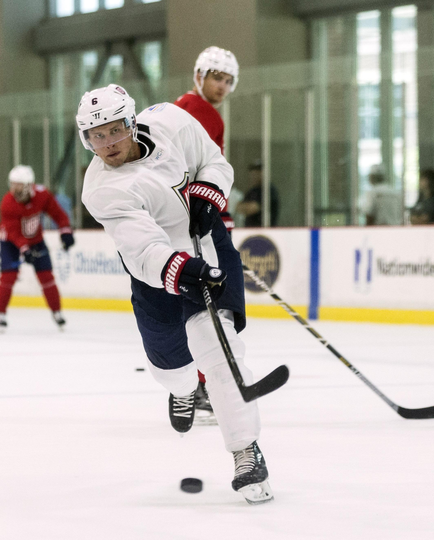 Hockey: World Cup of Hockey-Team USA-Practice