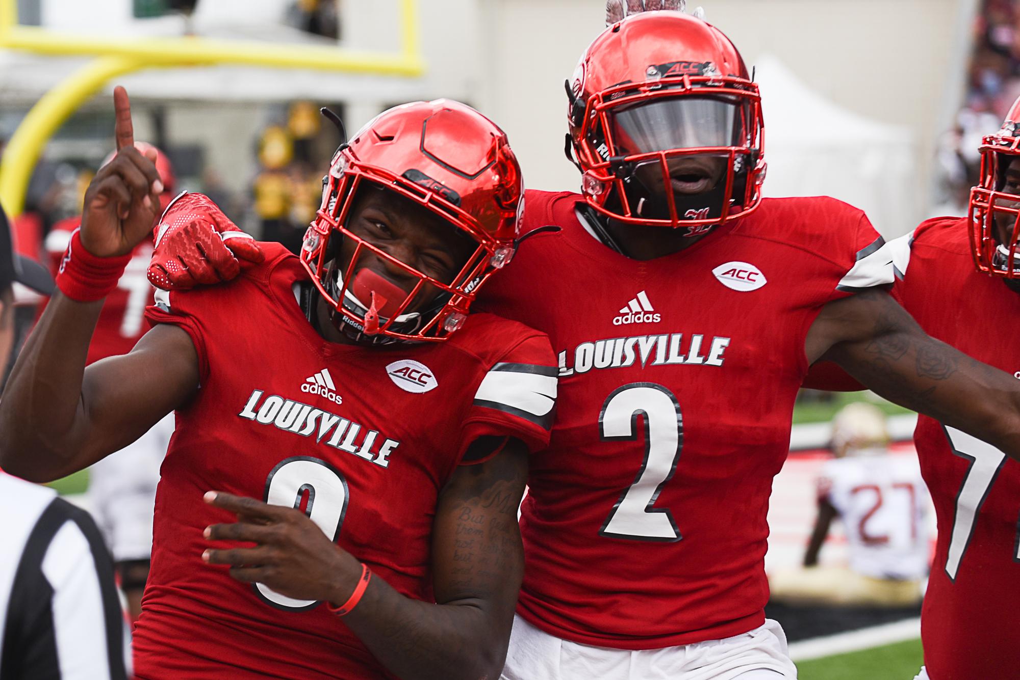 Jackson and Staples Celebrate the win over FSU