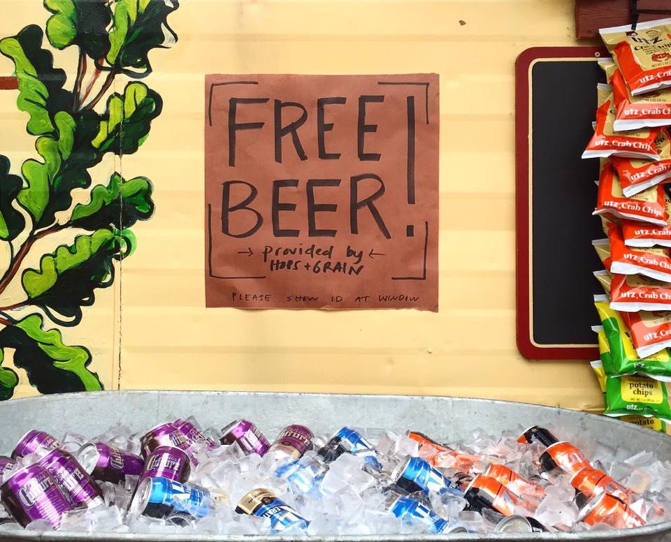 Micklethwait Craft Meats' free beer