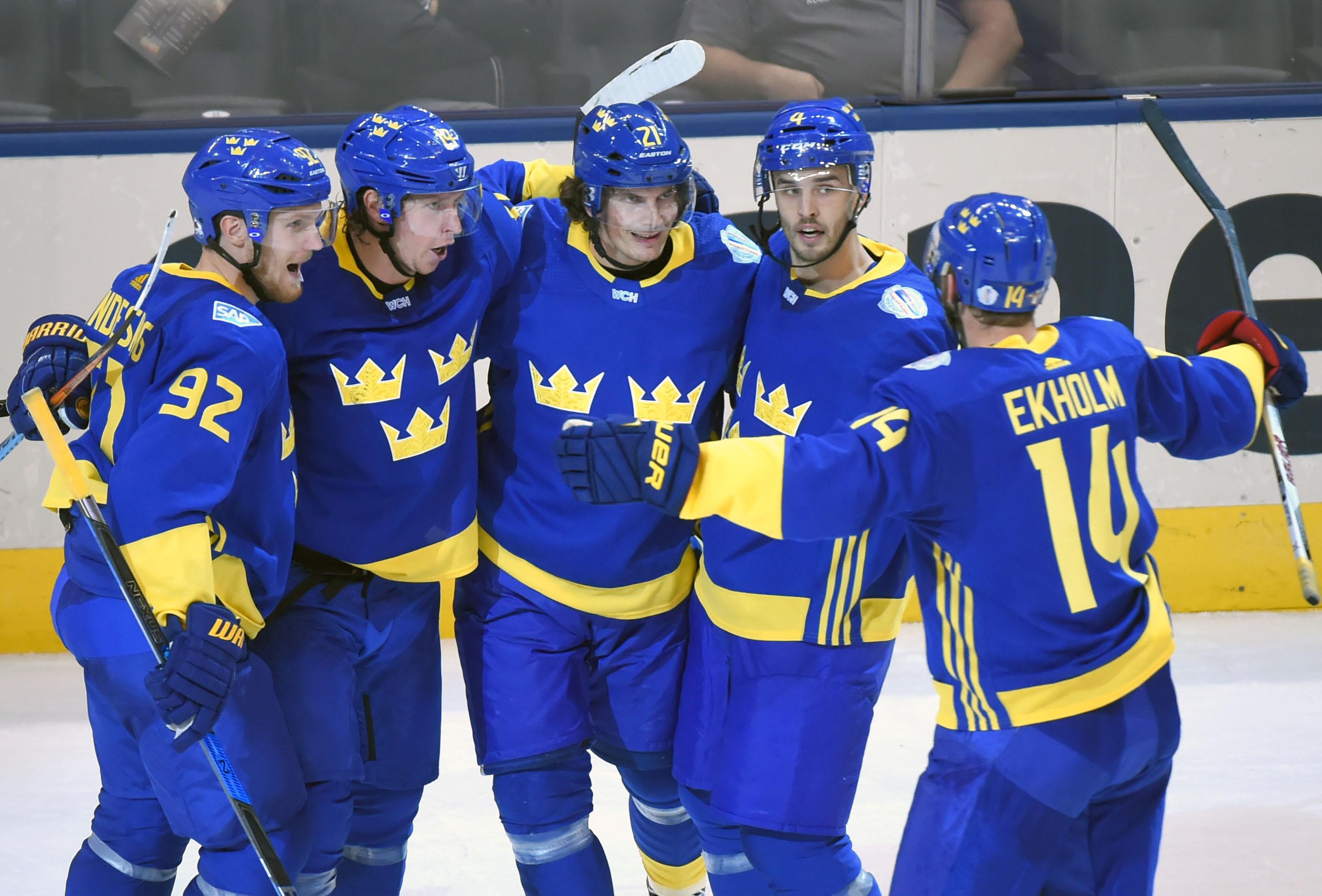 Hockey: World Cup of Hockey-Team Finland vs Team Sweden