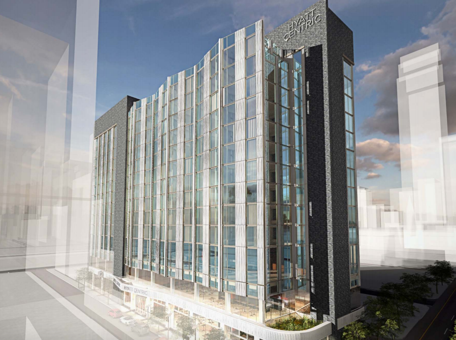 The proposed design of the Hyatt replacing Little Pete's