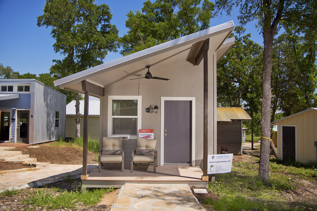 A tiny house at Austin's Community First