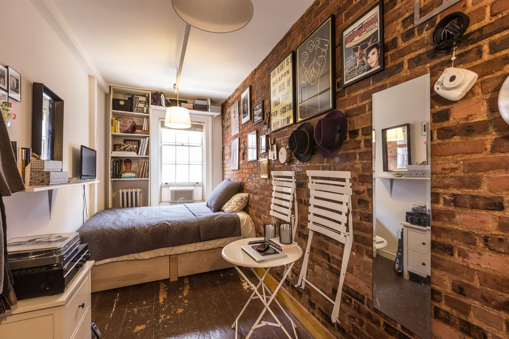 very small apartment.  NYC Micro Apartments Curbed NY