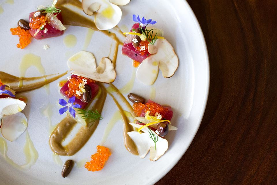 Fabio Trabbochi's flagship Fiola offers ahi tuna and hamachi crudo, and his other restaurants also have crudo on the menu.