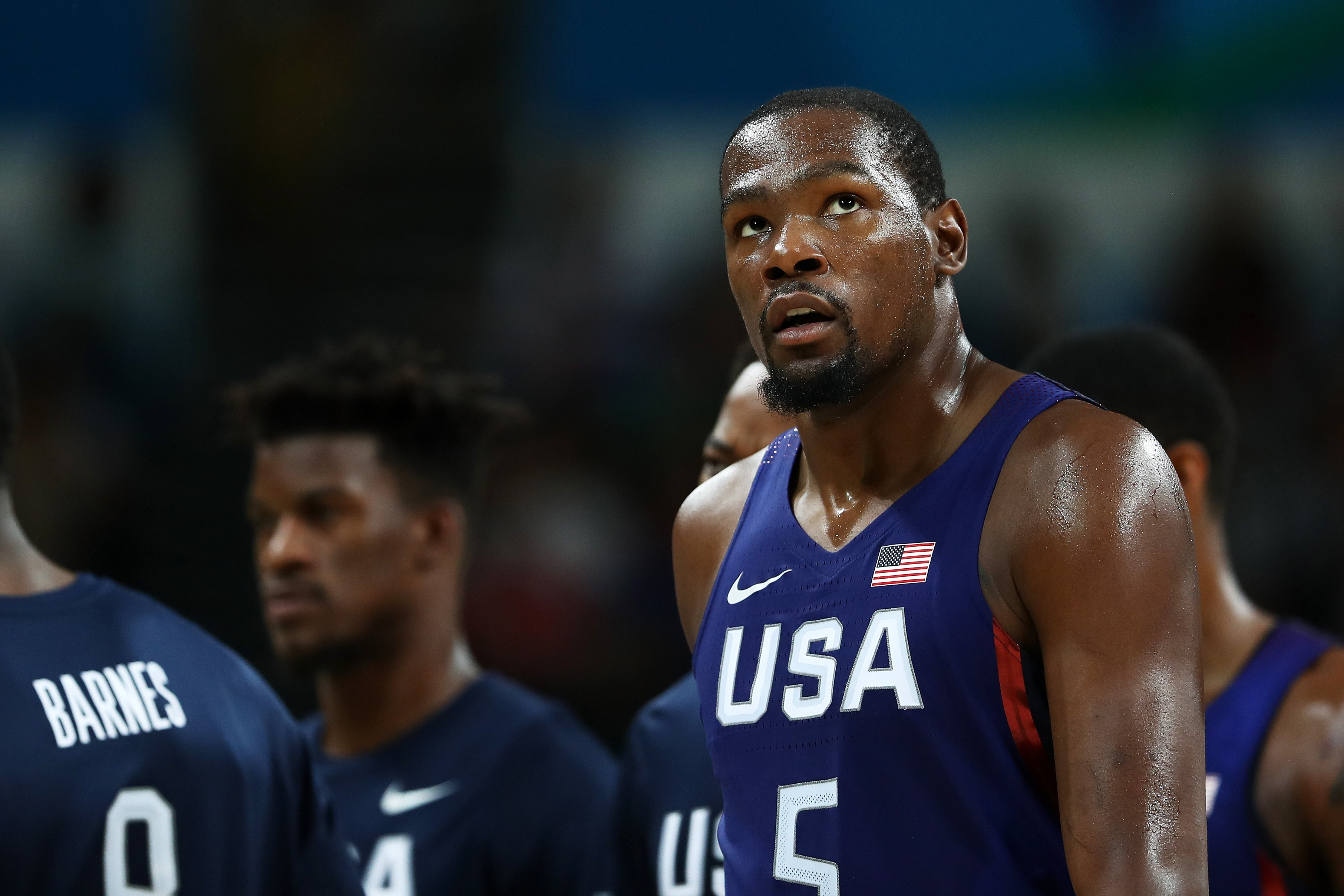 Kevin Durant playing for Team USA at the 2016 Rio Games