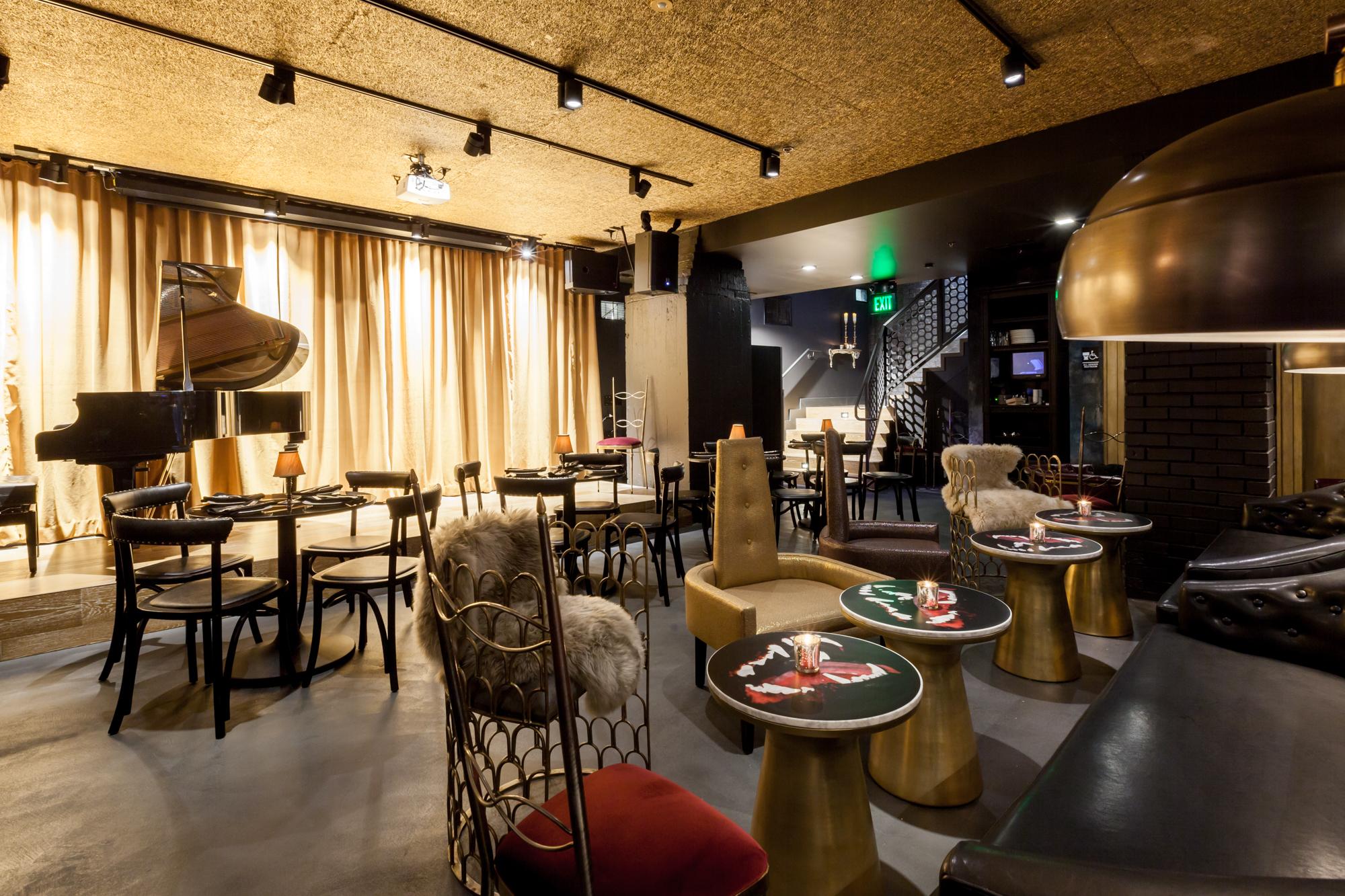 Black Cat's cabaret interior.