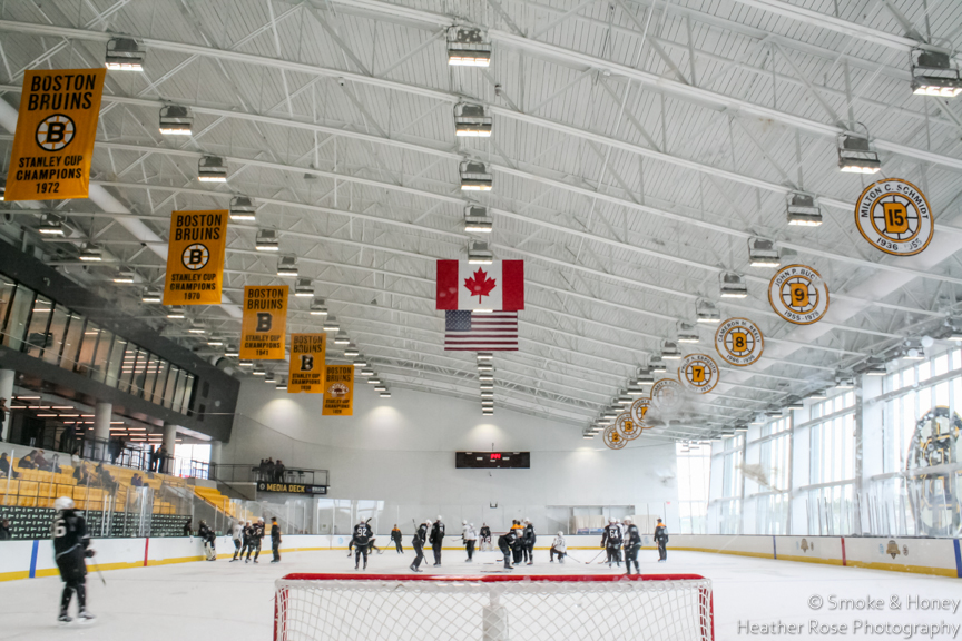 The Bruins at Warrior Ice Arena, their new training facility in Brighton, MA