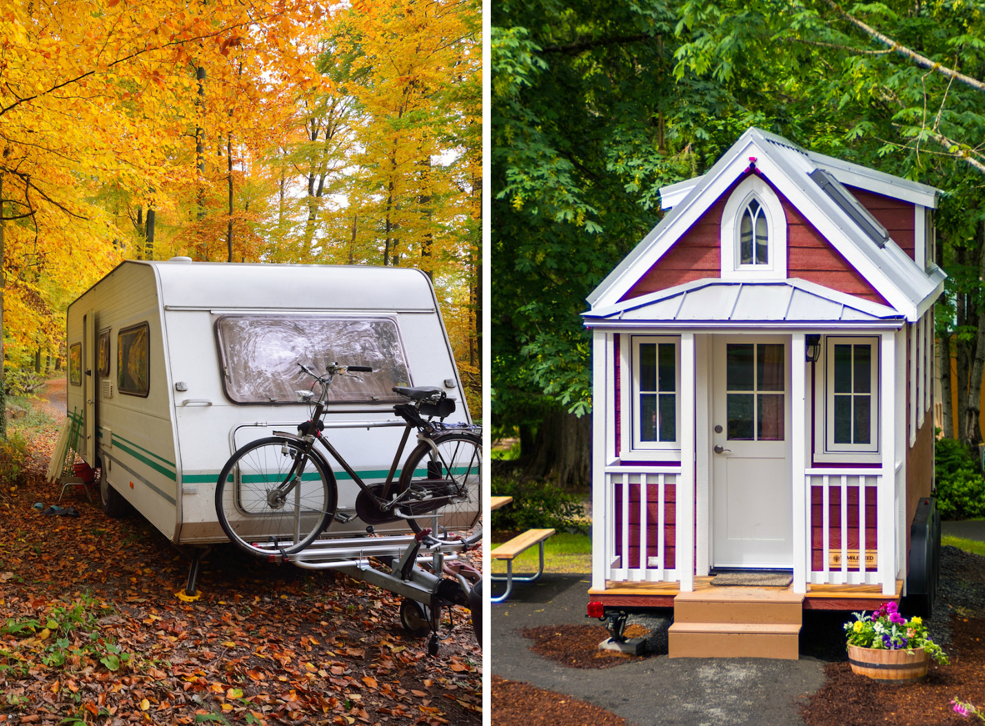 travel trailer and tiny house