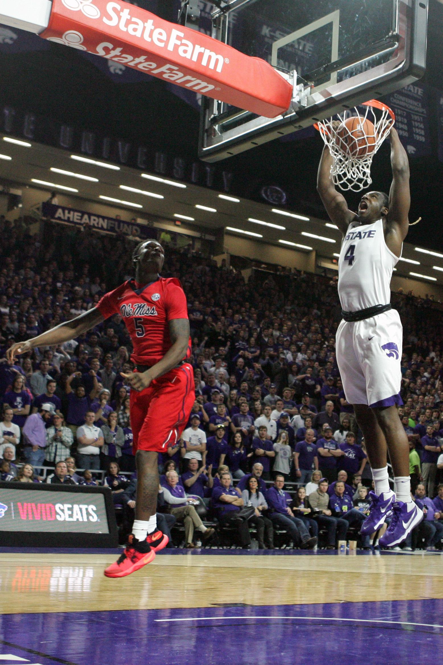 NCAA Basketball: Mississippi at Kansas State