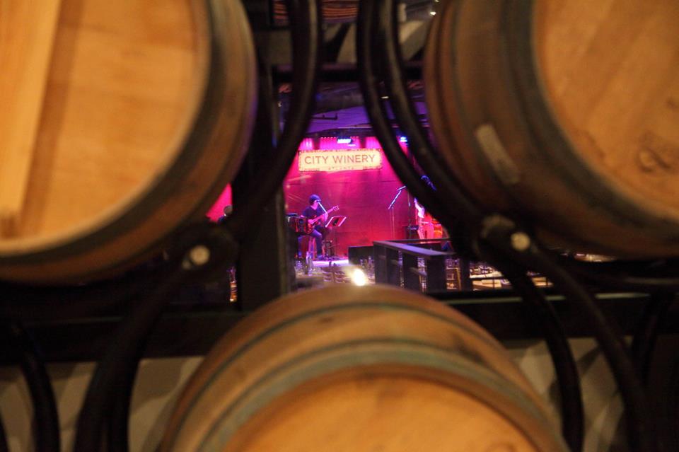 Inside City Winery.