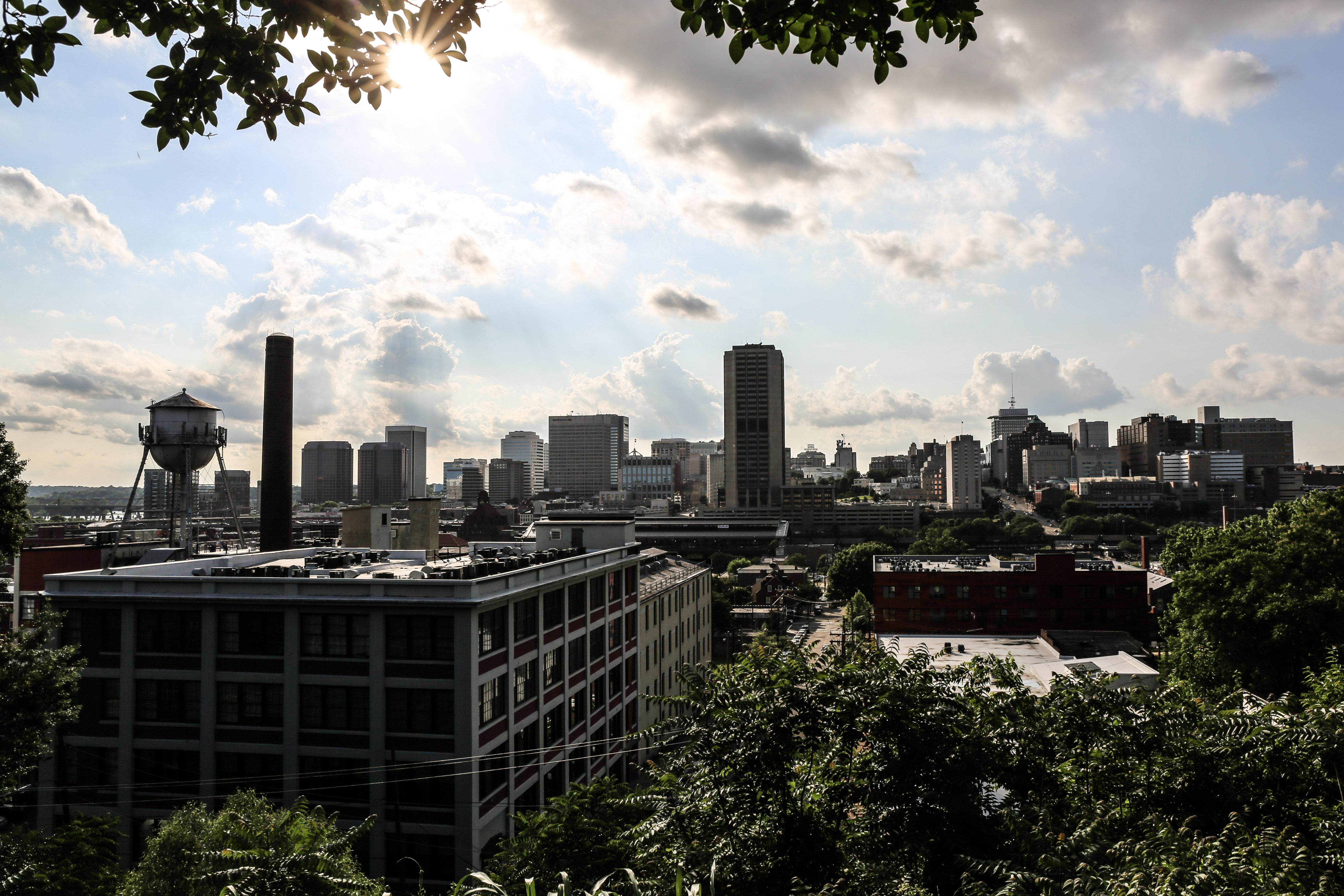 A view of the Richmond skyline