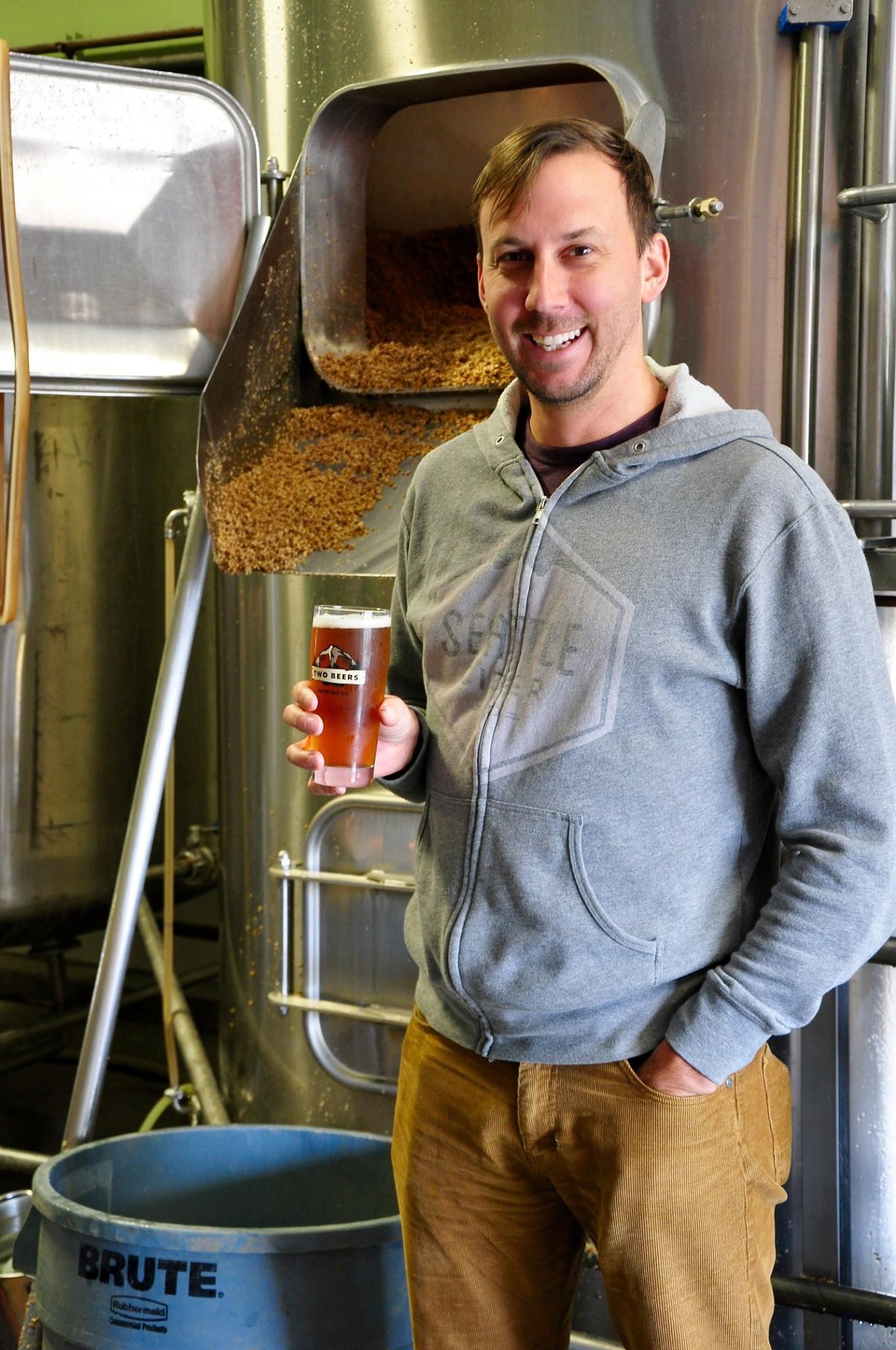 Two Beers and Seattle Cider Co founder, Joel VandenBrink.