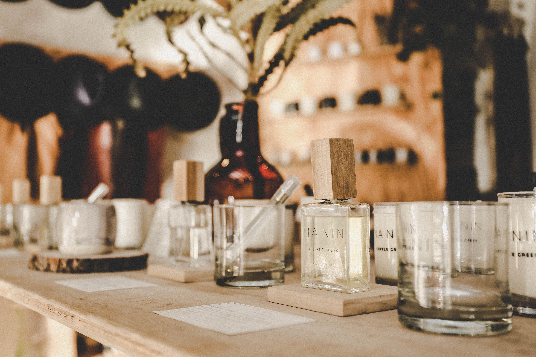 Na Nin's perfumes in the shop