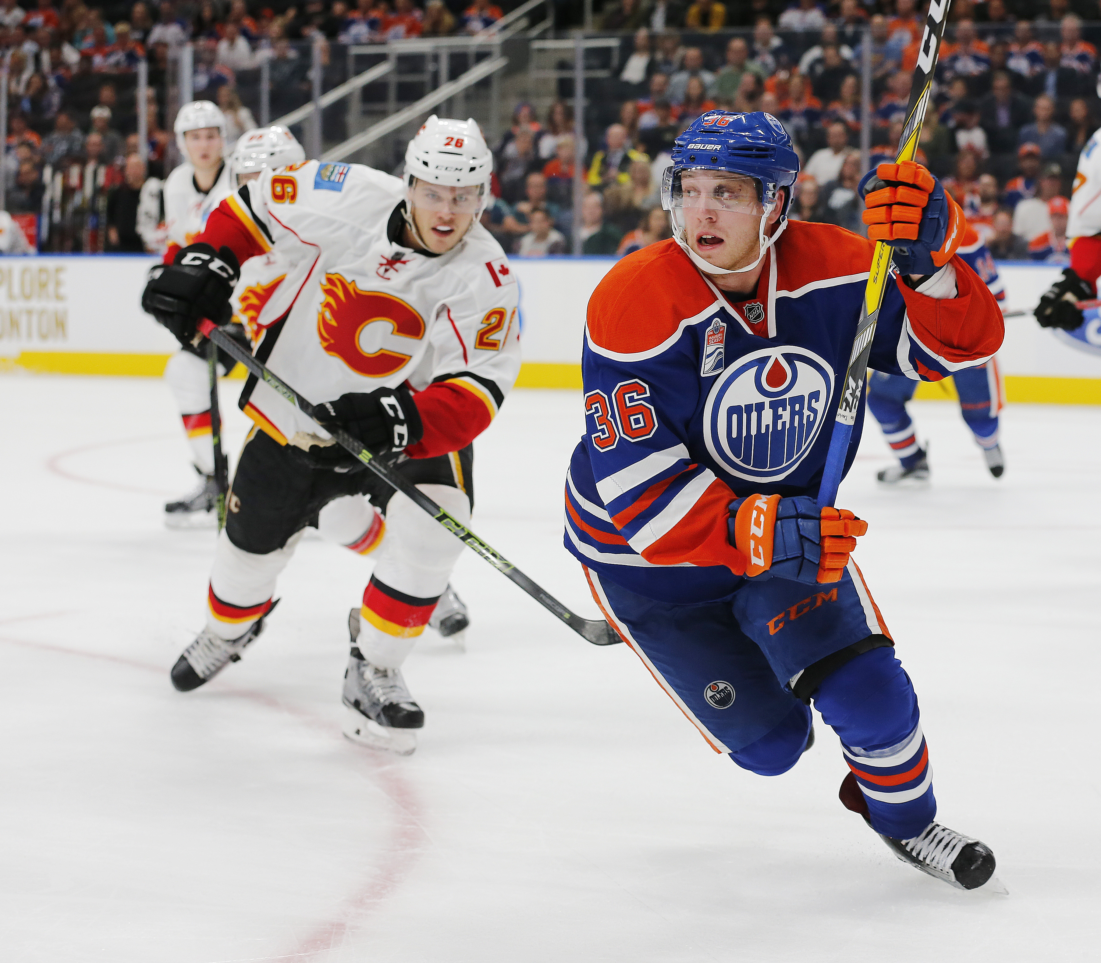 Drake Caggiula will play with Kris Versteeg and Patrick Maroon tonight in Vancouver.
