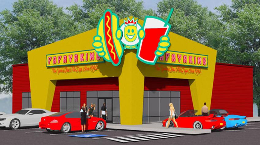 Papaya King rendering