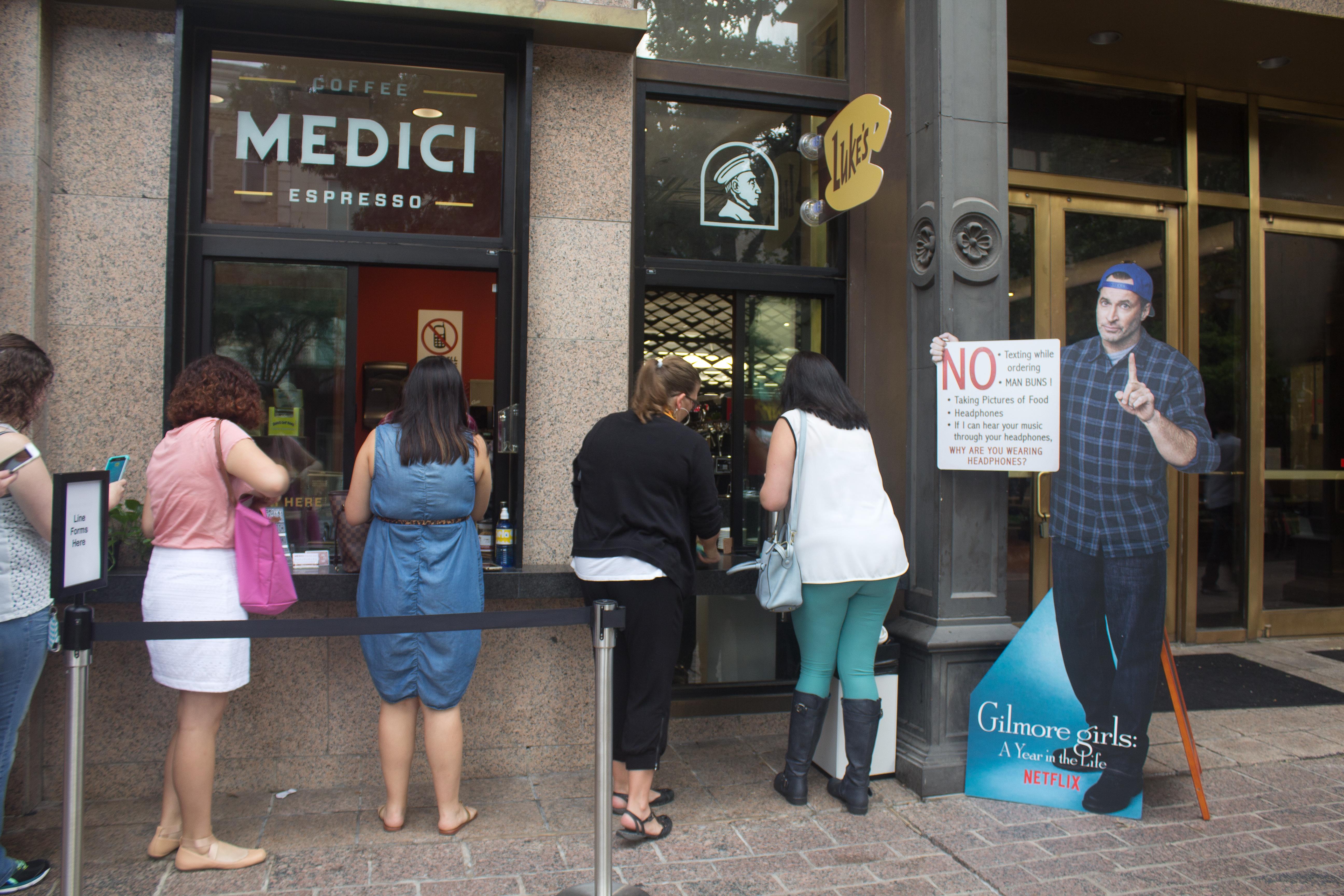 Luke's Diner...er Caffe Medici's walk-up counter