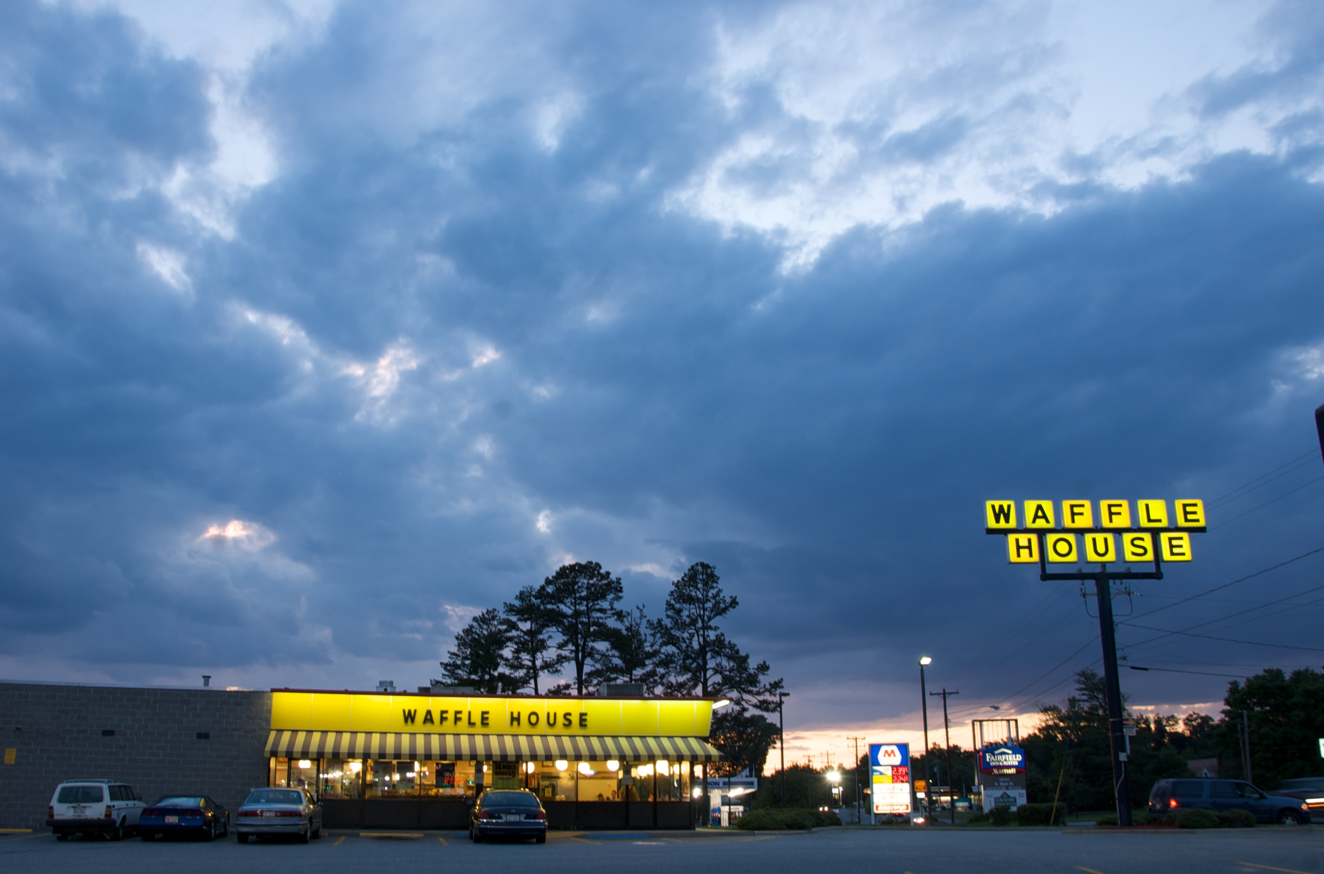 Waffle House in a storm
