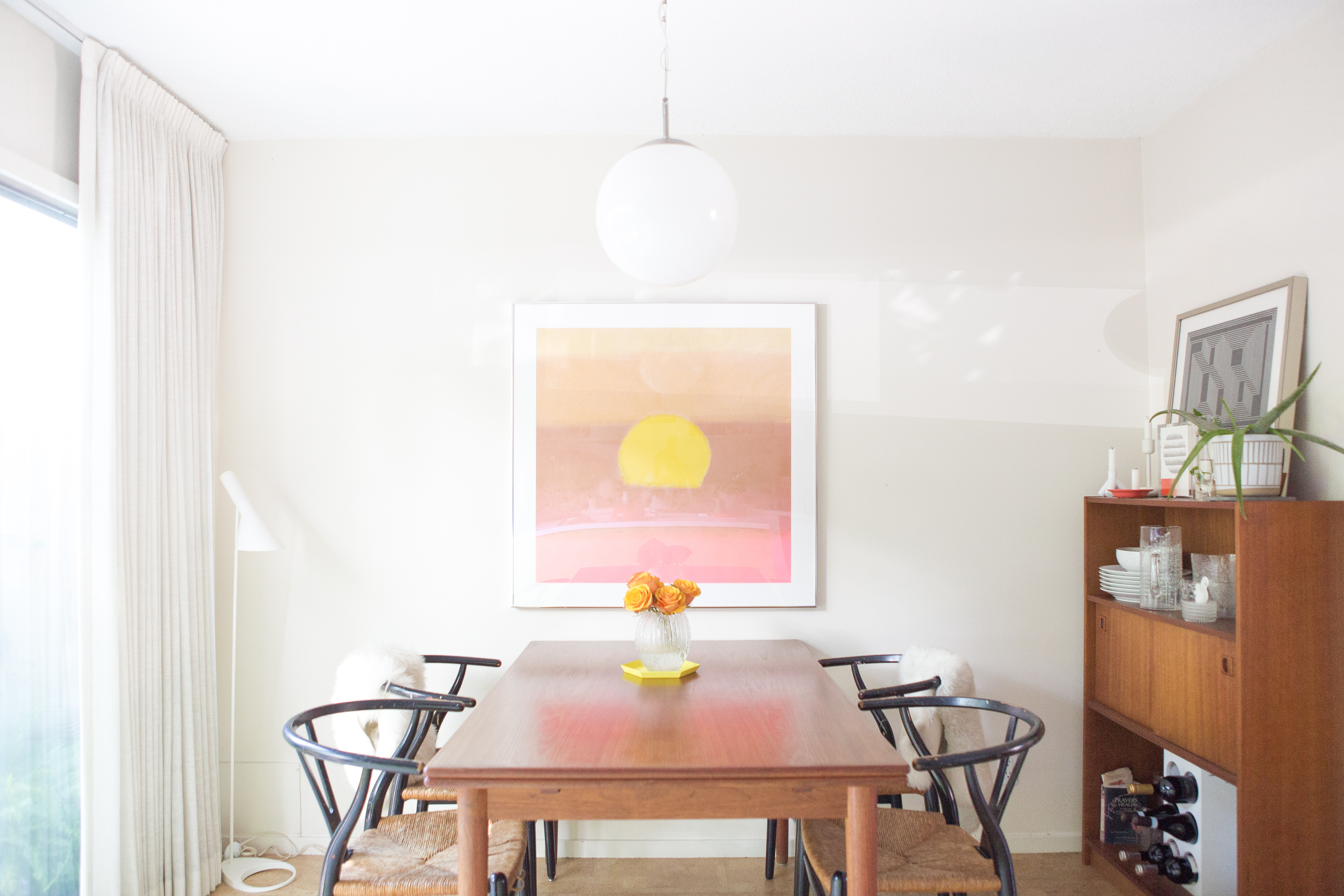 The dining room in the Minneapolis home of stylist and designer David Anger